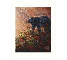 Autumn Rays-Black Bear Art Print
