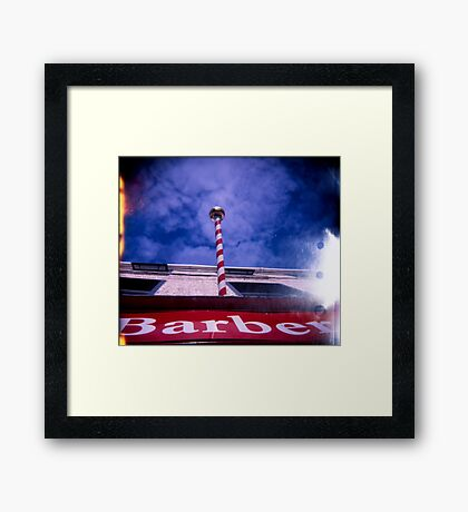 The Great Barber Pole In The Sky Framed Print