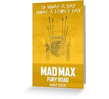 Mad Max Greeting Card