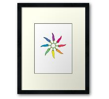 Chilli Wheel Framed Print