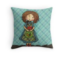 Toni Loves Gardening Throw Pillow