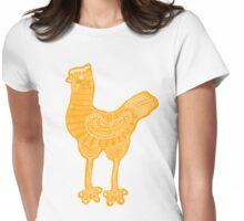 Orange chicken hen vintage hand drawn illustration Womens Fitted T-Shirt