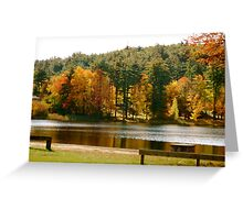 Crystal Lake in the Fall Greeting Card