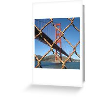Fence at the Golden Gate, San Francisco Greeting Card