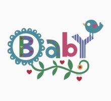 Baby and Bird - on lights by Andi Bird