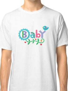 Baby and Bird - on lights Classic T-Shirt