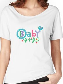 Baby and Bird - on lights Women's Relaxed Fit T-Shirt