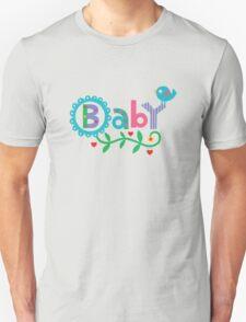 Baby and Bird - on lights T-Shirt