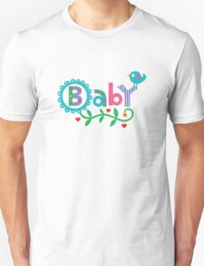 Baby and Bird - on lights T-Shirt