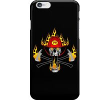 Flaming Fireman Skull and Axes iPhone Case/Skin