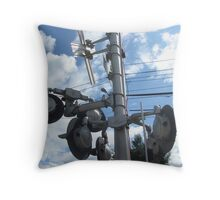 Needham Height's Train signals on roads next to the station Throw Pillow