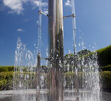 Alnwick Gardens Fountain by Dave Gray