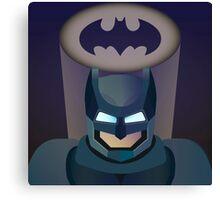 Vector helmet of batman Canvas Print