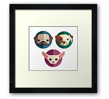 Cute puppies dog Framed Print