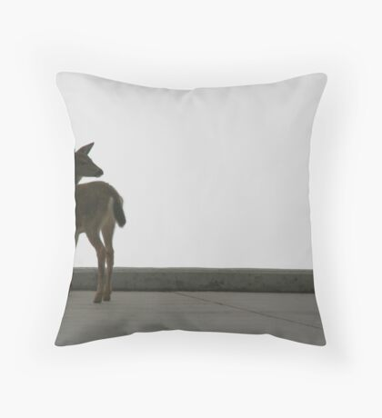 Can I go into the meadow Mom? Throw Pillow