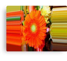 Orange Gerbera - Enhanced Canvas Print