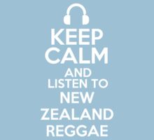 Keep calm and listen to New Zealand reggae Kids Clothes