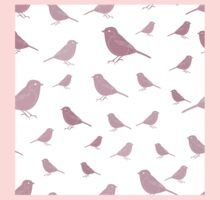 Sweet birds on a white background pink Kids Tee