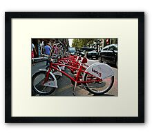 Cycles for hire Baraclona  Framed Print
