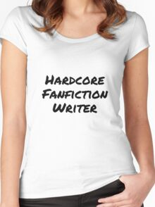 Hardcore Fanfic Writer Women's Fitted Scoop T-Shirt