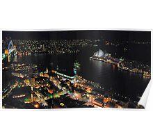 Circular Quay at night Poster