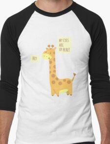 Giraffe Problems! Men's Baseball ¾ T-Shirt