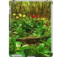 Green, Yellow and Red - Tulip Forest Impressions  iPad Case/Skin