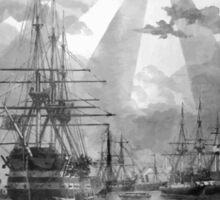 Civil War Ships Sticker