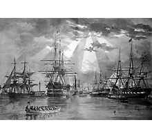 Civil War Ships Photographic Print