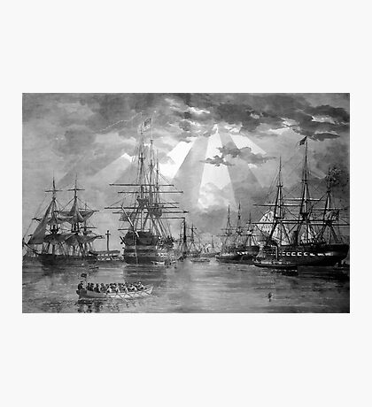 Civil War Ships Photographic Print