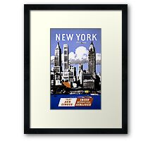New York Vintage Travel Poster Restored Framed Print