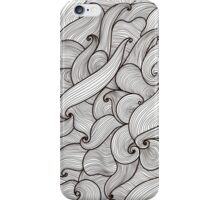 Abstract hand-drawn waves texture, wavy background. Colorful waves backdrop iPhone Case/Skin