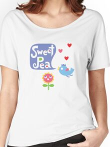 Sweet Pea - on lights Women's Relaxed Fit T-Shirt
