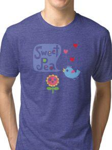 Sweet Pea - on lights Tri-blend T-Shirt