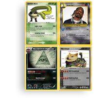 Mlg Pokemon Cards Canvas Print