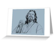 The Dude. Greeting Card