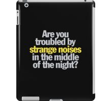 Ghostbusters - Are you troubled by strange noises in the night? iPad Case/Skin