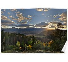 Sunset from Ute Pass Poster