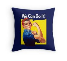 Rosie The Riveter - We Can Do It Throw Pillow
