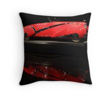 Red Cadillac Reflections Throw Pillow