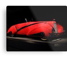 Red Cadillac 4 Metal Print