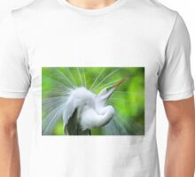 Breeding Egret Eye to the Sky Unisex T-Shirt