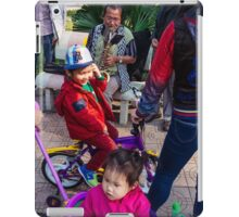 Street saxophonist in Hanoi city iPad Case/Skin