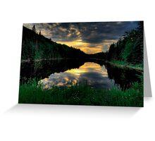 Ontario Lake Sunset Greeting Card