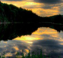 Ontario Lake Sunset Sticker