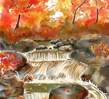 Fall Water Fall by Joan A Hamilton