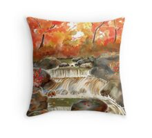 Fall Water Fall Throw Pillow