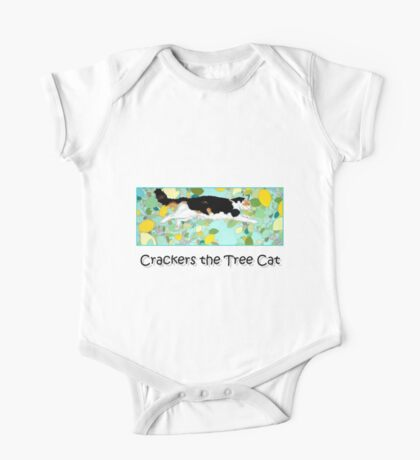 Crackers the Tree Cat One Piece - Short Sleeve