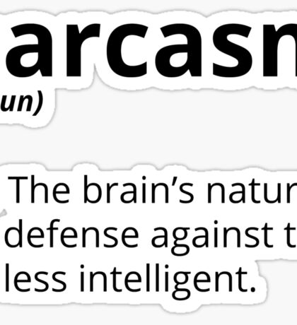 Sarcasm Sticker