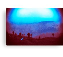 over the hill & far away Canvas Print